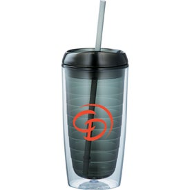 Advertising Twister Tumbler With Straw