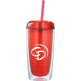 Printed Twister Tumbler With Straw