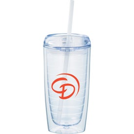 Twister Tumbler With Straw (16 Oz.)