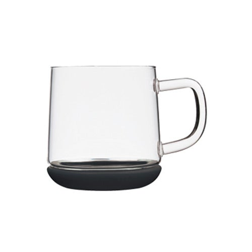 Clear / Black Vancouver Glass Mug