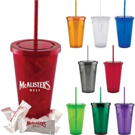 Varsity Double Wall Tumbler and 20 Mints (16 Oz.)