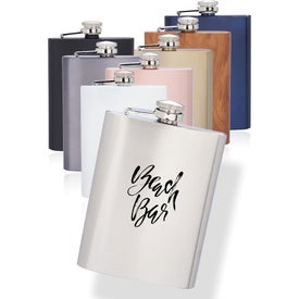 Verano Stainless Steel Hip Flasks (8 Oz.)