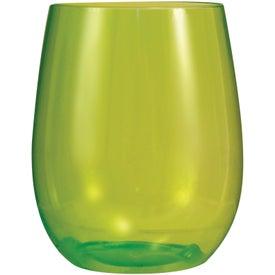 Vinello Stemless Wine Glass for Advertising