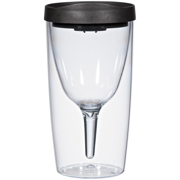 Clear / Black Vino2Go Wine Tumbler