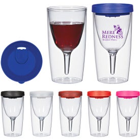 Imprinted Vino2Go Wine Tumbler