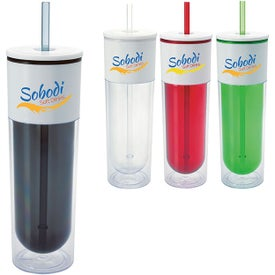 White Top Tumbler with Your Slogan