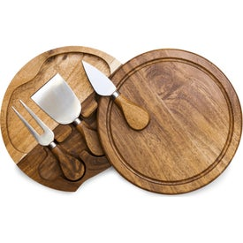 Acacia Brie Cheese Cutting Board and Tool Set