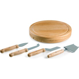 Rubberwood Circo Cheese Cutting Board and Tool Set