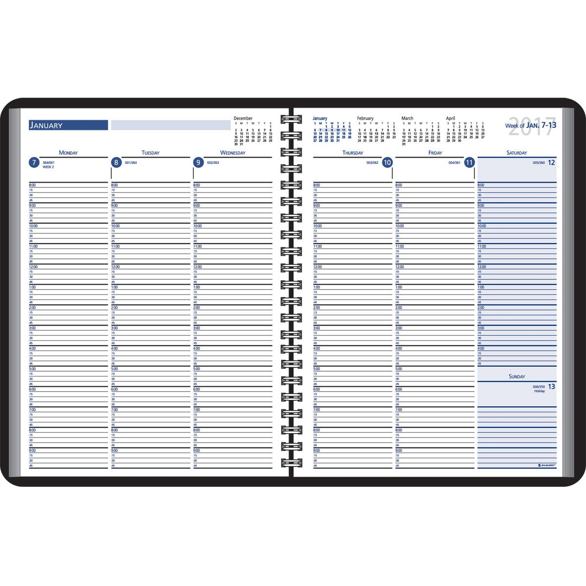15 minute appointments desk planner 2018 custom day for Custom photo planner