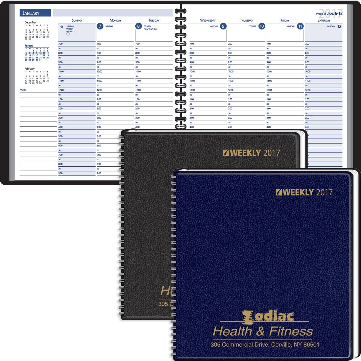 30 minute appointments desk planner 2017 custom day for Custom photo planner