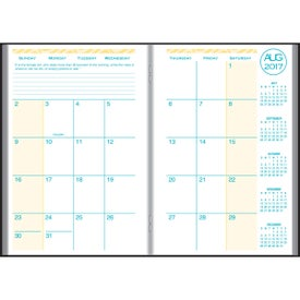 Company Academic Desk Monthly Planner with Morocco Cover 2017