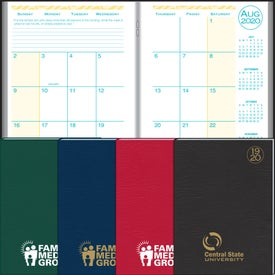 Academic Desk Monthly Planner with Morocco Cover 2020