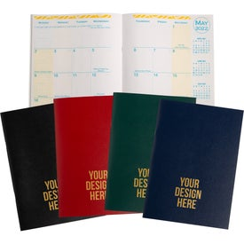 Personalized Academic Desk Monthly Planner with Morocco Cover 2017