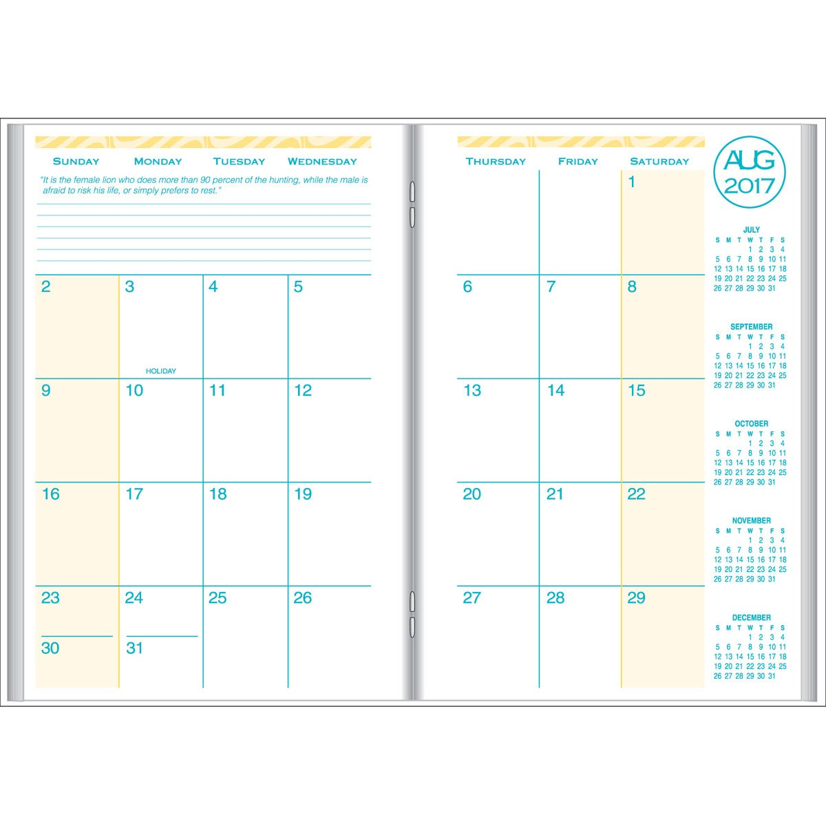 Academic monthly planner with weave cover 2017 custom for Create custom planner