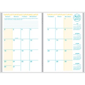 Customized Academic Monthly Planner with Weave Cover