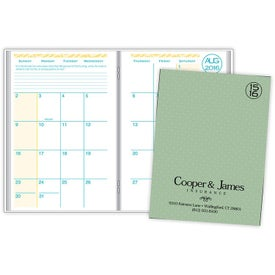 Academic Monthly Planner with Weave Cover for Promotion