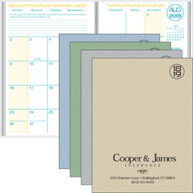 Academic Monthly Planner with Weave Cover (2020)