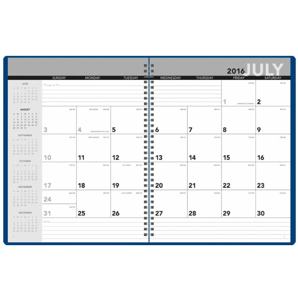 Academic monthly planner 2017 custom day planners 4 for Custom photo planner