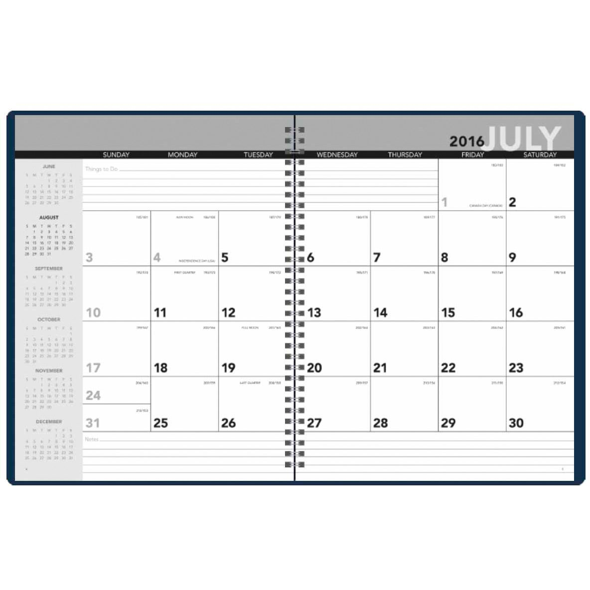 Academic monthly planner 2017 custom day planners 3 for Custom photo planner
