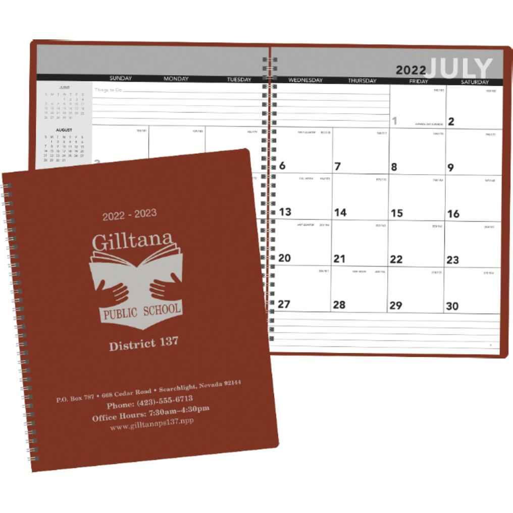 Promotional 2019 academic monthly planners with custom for Custom photo planner