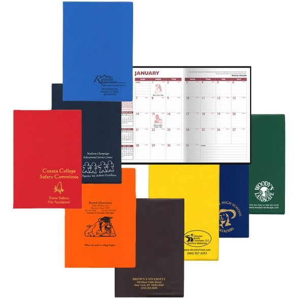 Promotional academic planner standard vinyls with custom for Custom photo planner