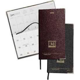 Bach Monthly Pocket Dairy with Gold Corners for Marketing