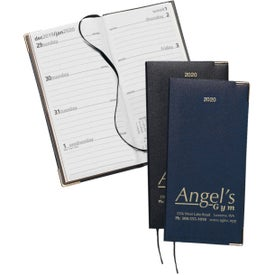 Symphony Weekly Pocket Diary with Gold Corners with Your Logo