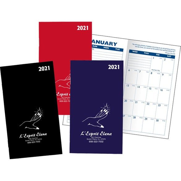 promotional 2019 monthly pocket planners with custom logo for 1 02 ea