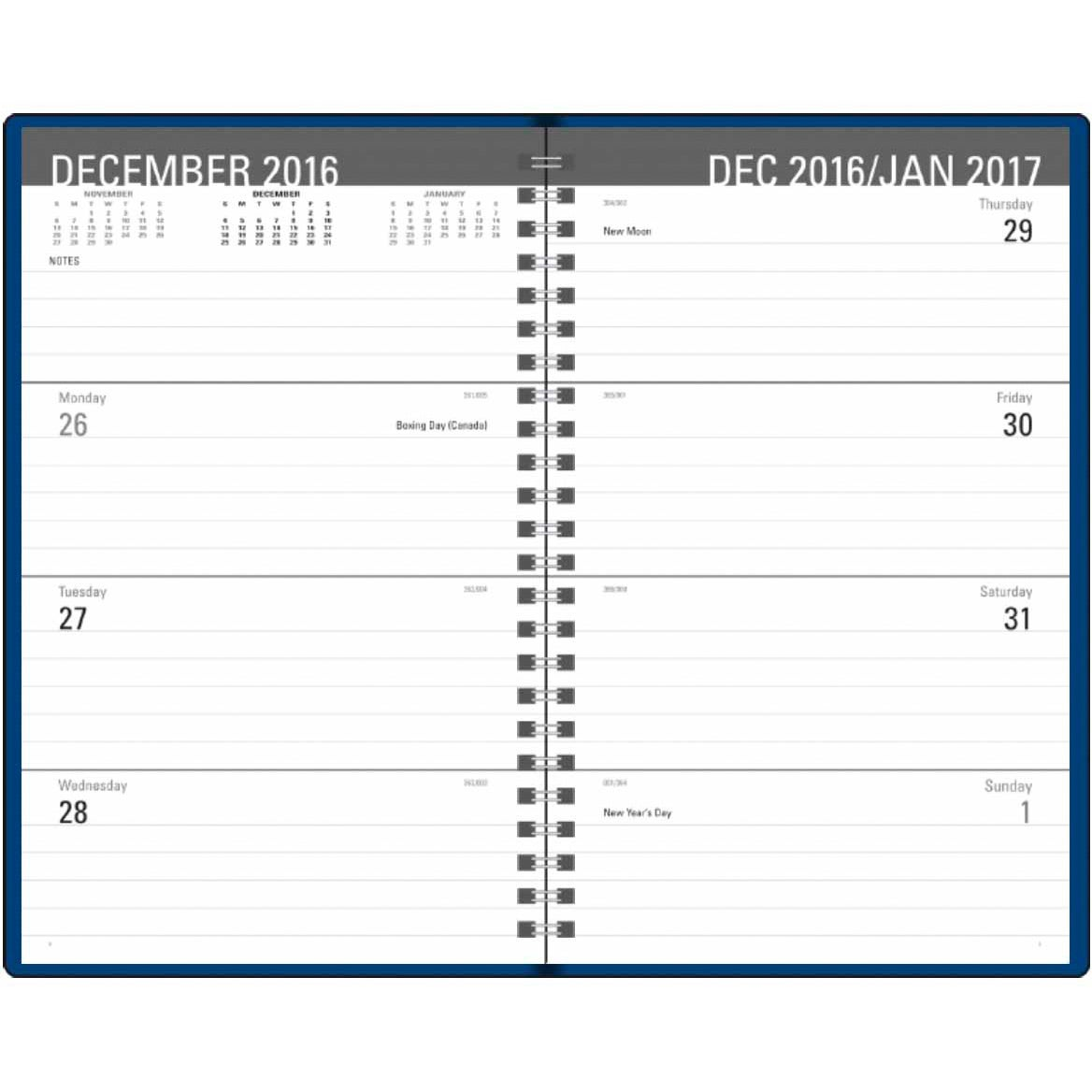 Classic Weekly Desk Planner 2017 Custom Day Planners