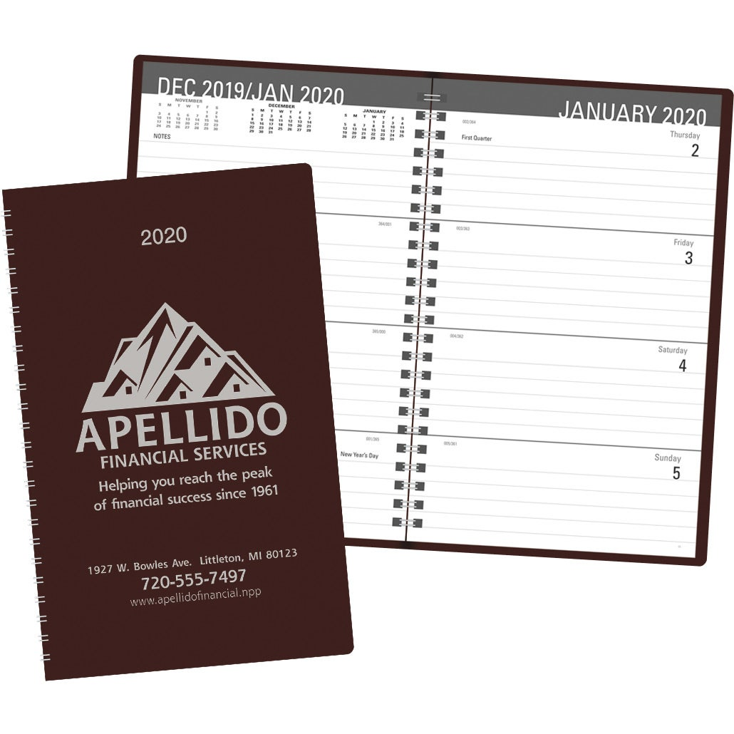 Promotional 2019 Classic Weekly Desk Planners With Custom Logo For