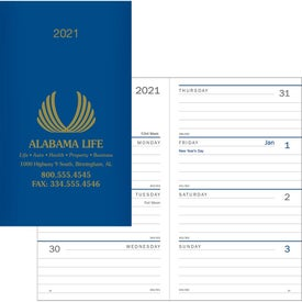 Classic Weekly Pocket Planner Printed with Your Logo
