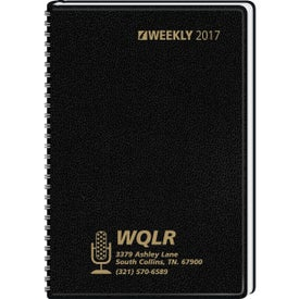 Column Style Weekly Wired Desk Planner with Your Logo
