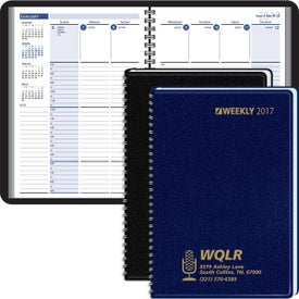 Column Style Weekly Wired Desk Planner for Your Organization