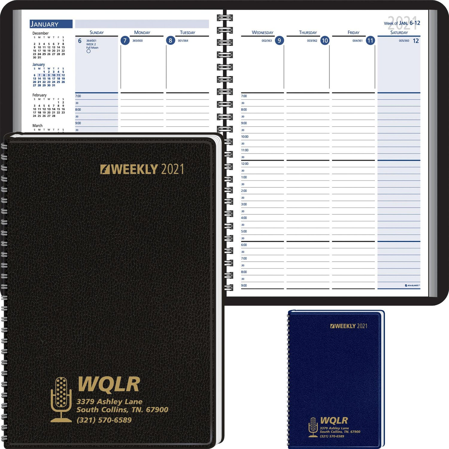 Promotional 2019 Column Style Weekly Wired Desk Planners With Custom