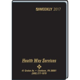 Compact Ruled Weekly Format In Casemade Cover 2017 with Your Slogan
