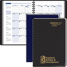 Contractors Planning Manual Monthly Planner for Customization