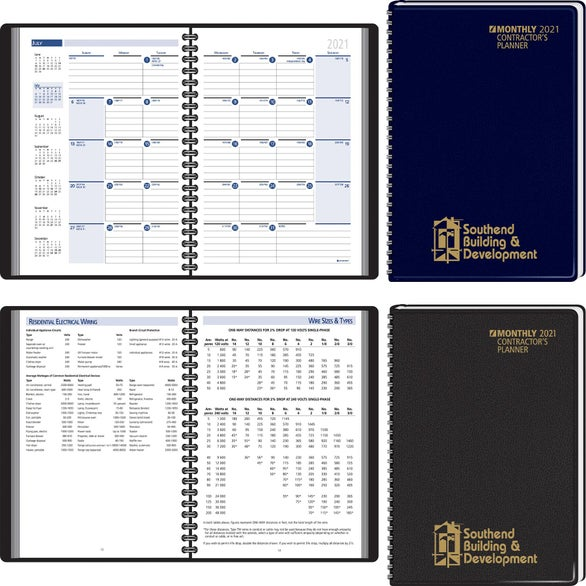 Contractors Planning Manual Monthly Planner
