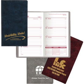 Executive Vinyl Weekly Planner without Map