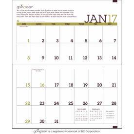 Monogrammed Going Green Monthly Pocket Planner