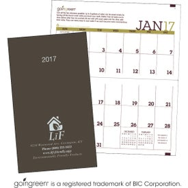 Going Green Monthly Pocket Planner with Your Slogan