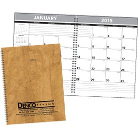 Hardcover Monthly Planner for Your Organization