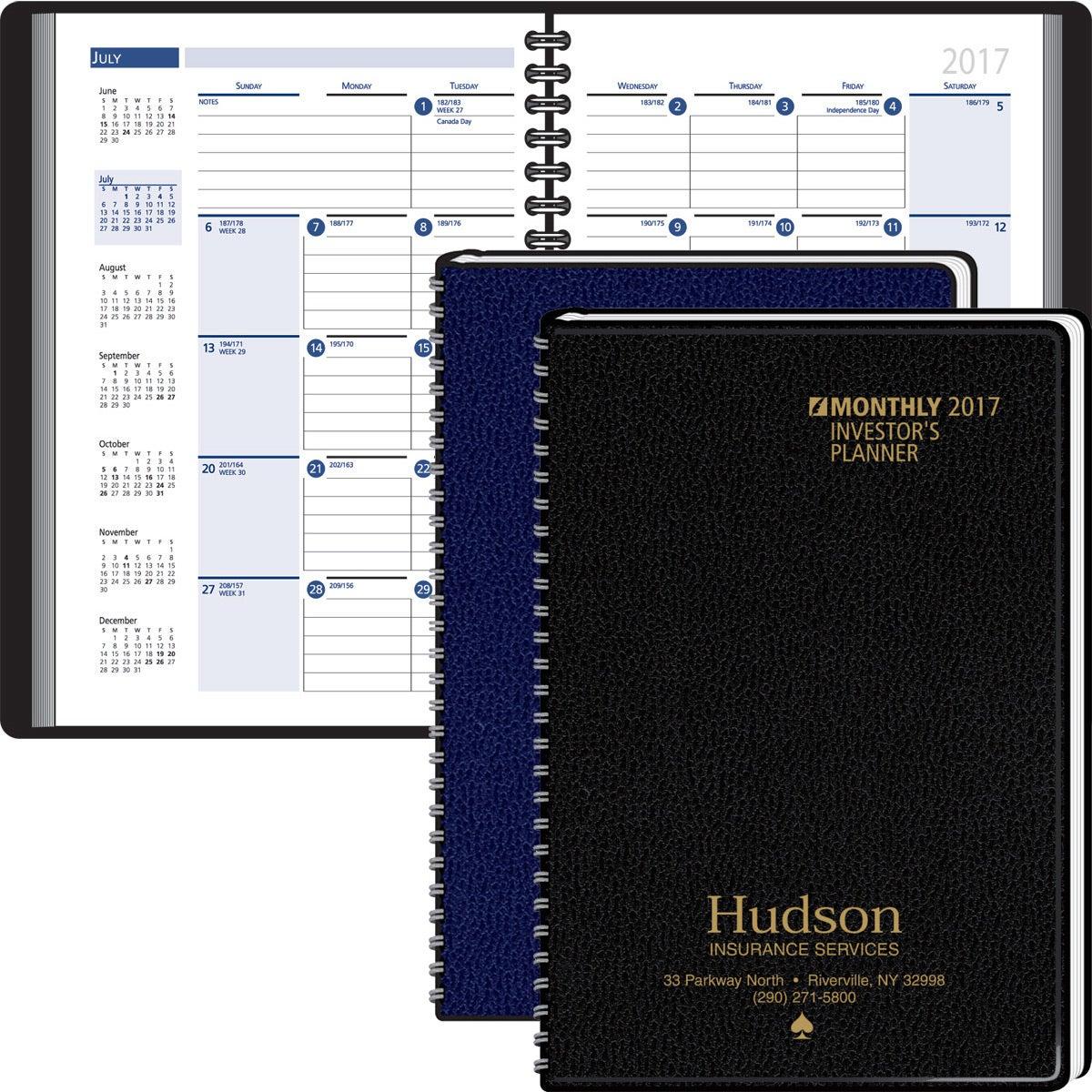 Investors planning manual monthly planner custom day for Custom photo planner