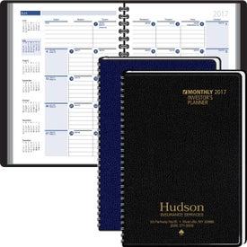 Custom Investors Planning Manual Monthly Planner