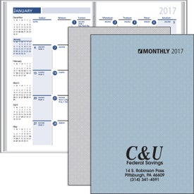 Monthly Format Stitched To Paper Cover 2017 for Promotion