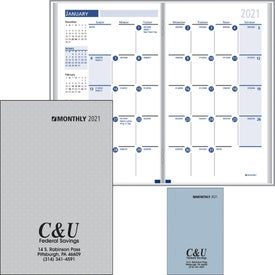 Branded Monthly Format Stitched To Paper Cover 2017