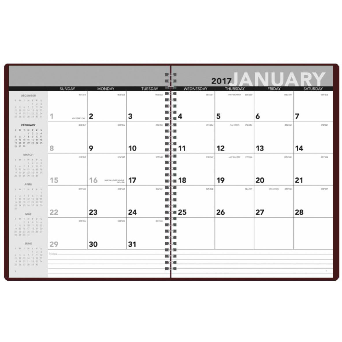 Monthly planner 2017 custom day planners ea for Create custom planner