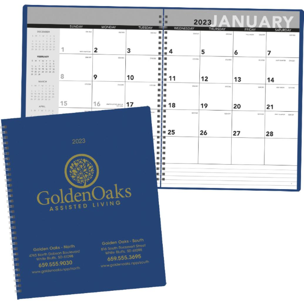 Promotional 2019 monthly planners with custom logo for 2 for Custom photo planner
