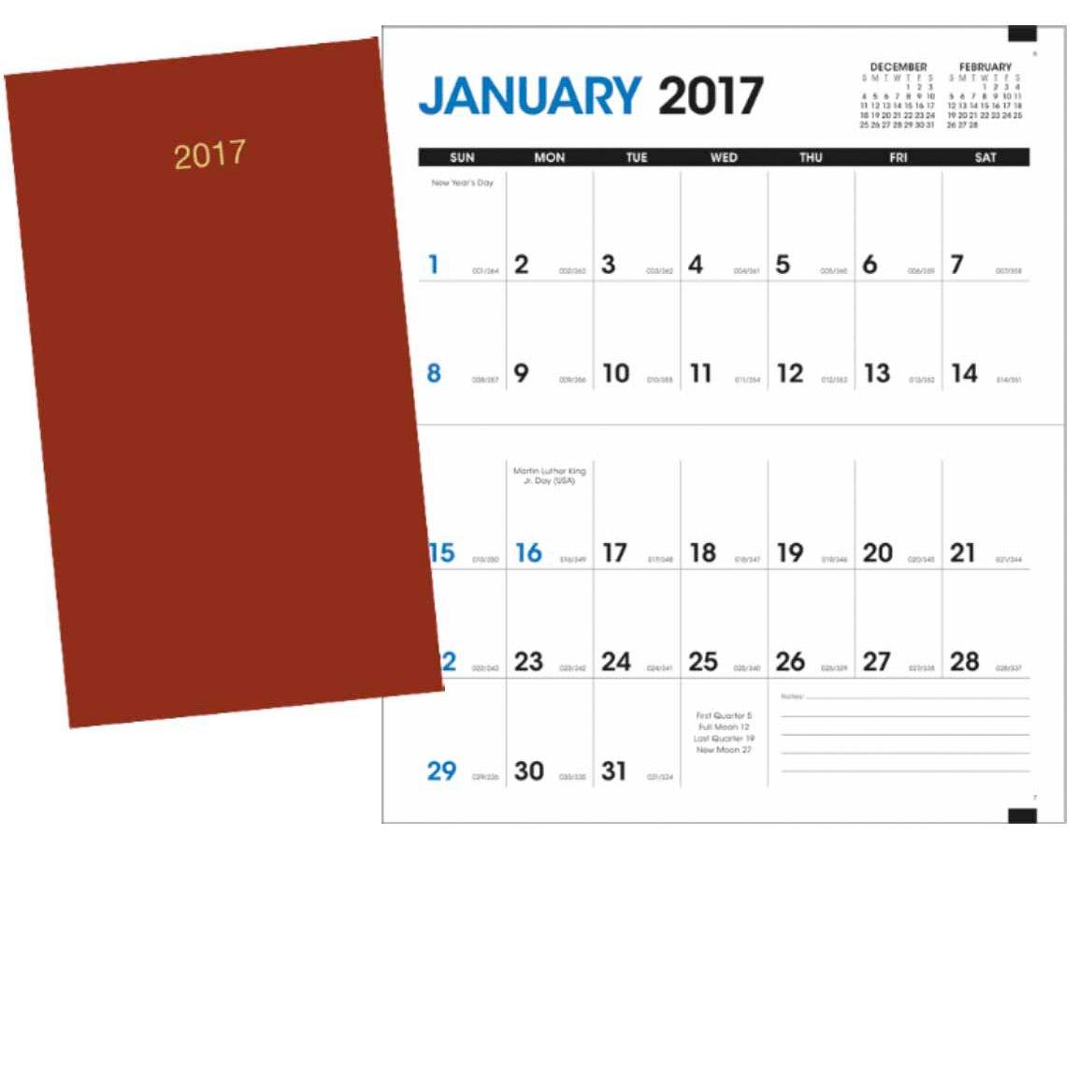 Monthly pocket planner 2017 custom day planners ea for Custom photo planner