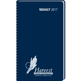 Company Day-Per-Page Desk Planner Wired to Cover