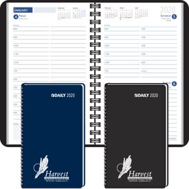 Day-Per-Page Desk Planner Wired to Cover (2020)